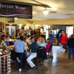 Hector Wine Company's tasting room is full of casual tasters