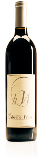 bottle of HWC Cab Franc red wine