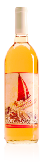 bottle of HWC Catawba blush wine