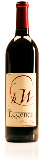 bottle of HWC Essence red wine
