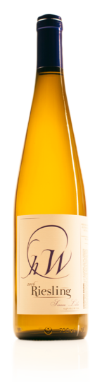 bottle of HWC Riesling white wine