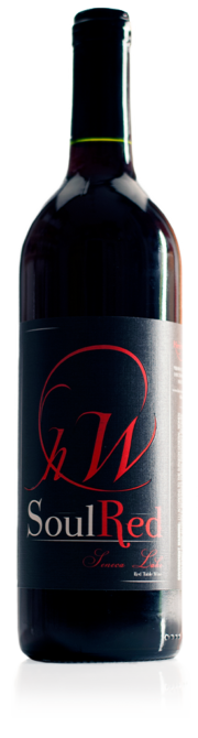 bottle of HWC Soul Red red wine